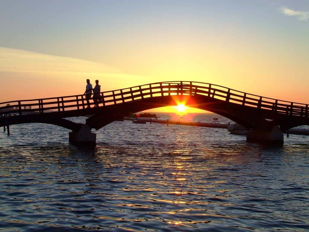 Lefkada brisge sunset