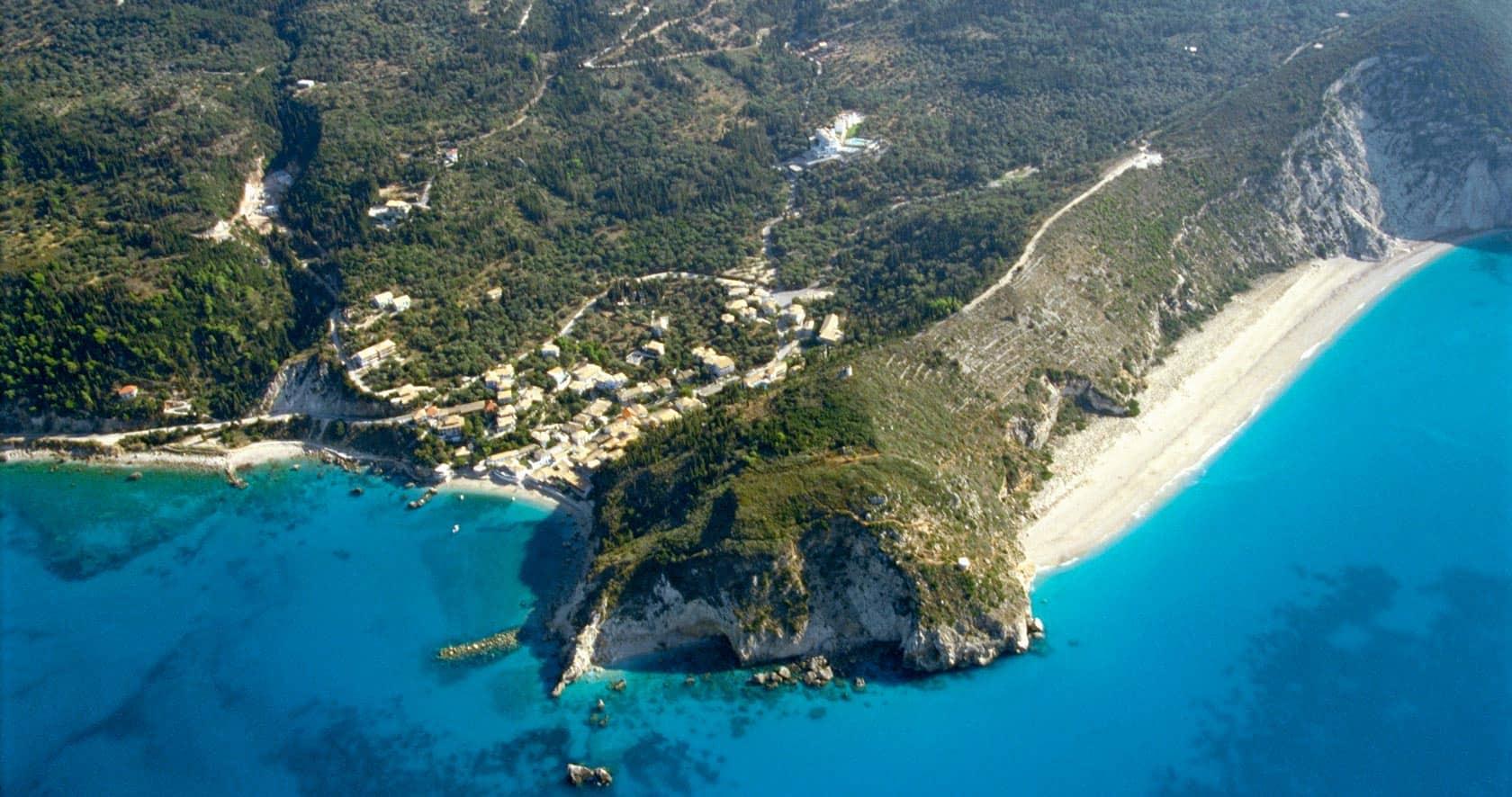 Mikos beach and Agios Nikitas village