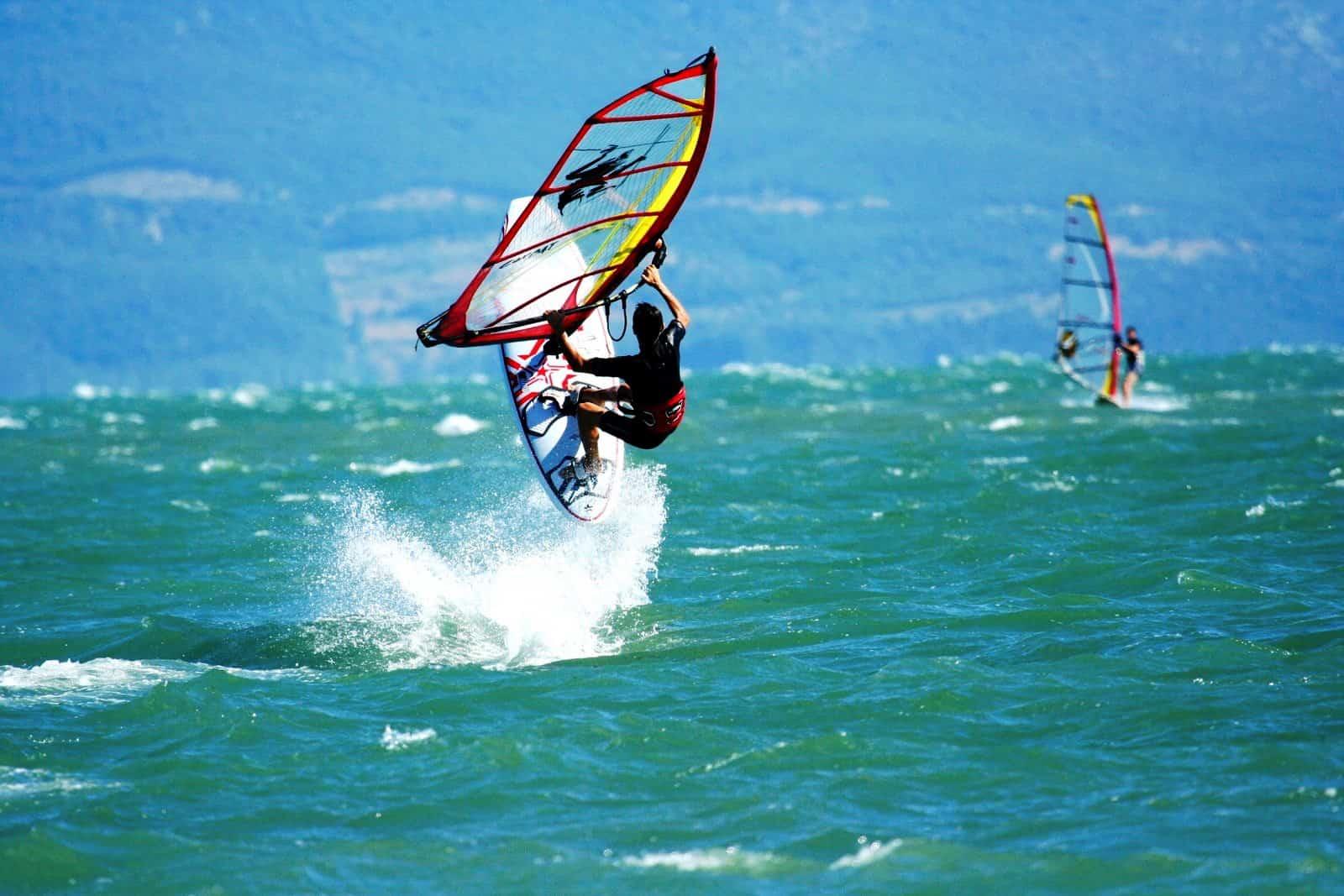 Vasiliki windsurfing